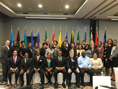 Professor Conley with Caribbean ministers in 2018
